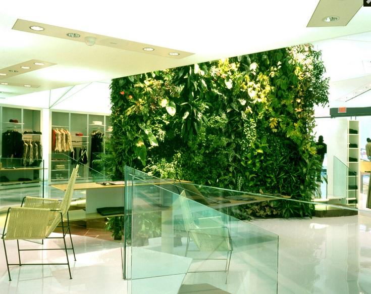 Jardín vertical de Patrick Blanc en tienda Marithé + François Girbaud en New York