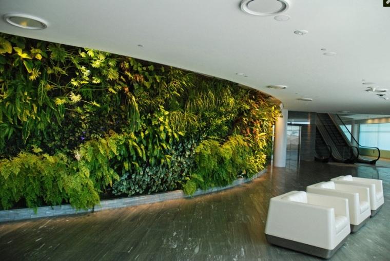 Jardín vertical de Patrick Blanc Qantas Lounge, en la torre escalator en Sydney