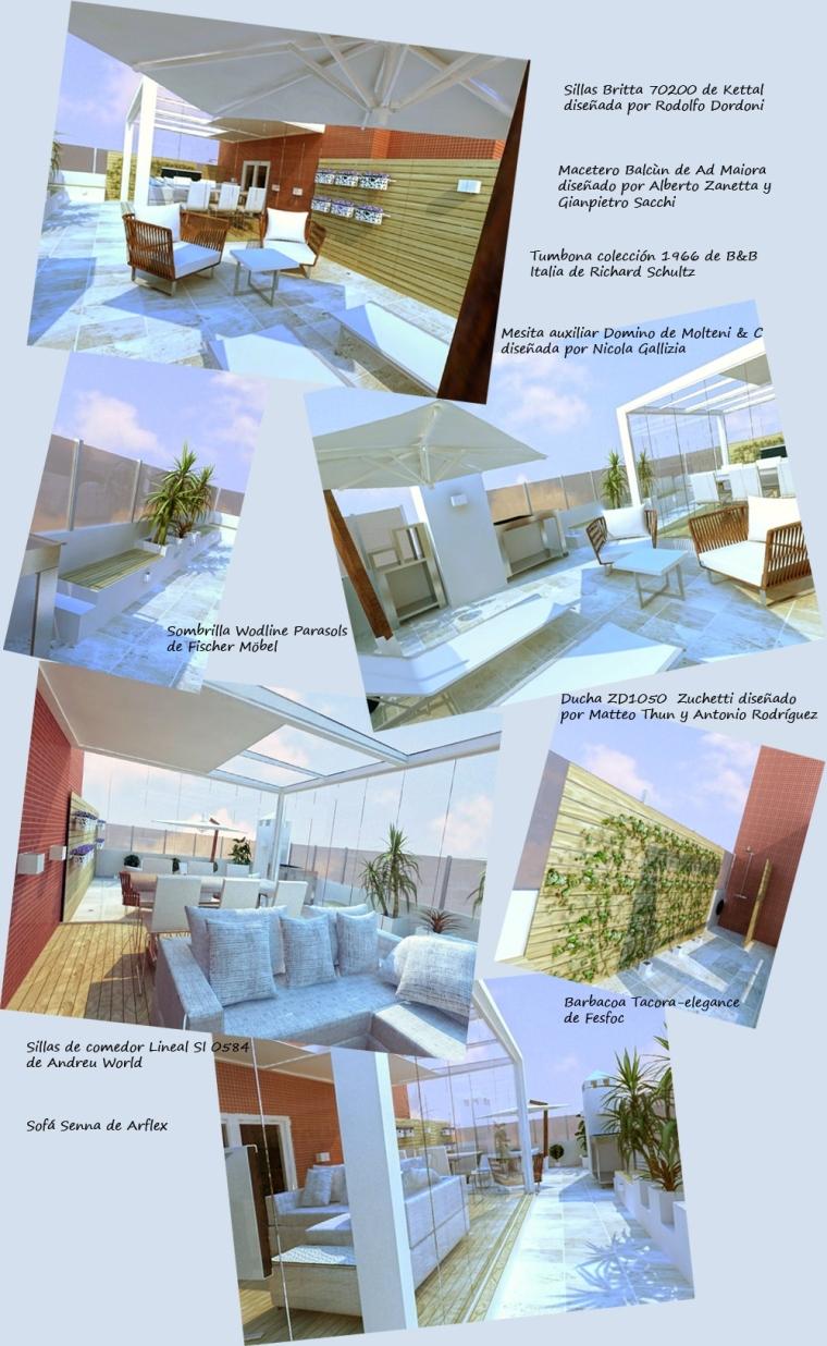 Infografía con detalles mobiliario