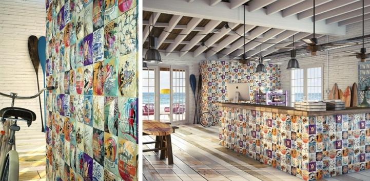 Mosaicos cerámicos de la firma Dune