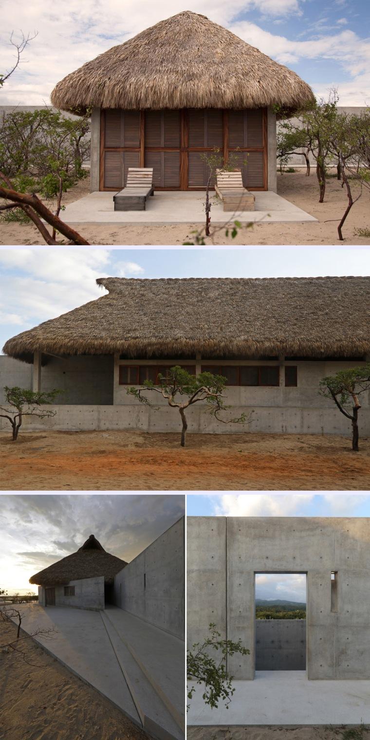 Detalles de los exteriores de Casa Wabi. Fotografía de Estudio Zabé.